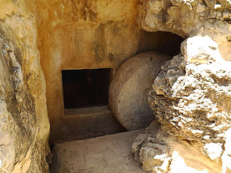 Ancient tomb in Yad Hashmona, Israel Stock Photo