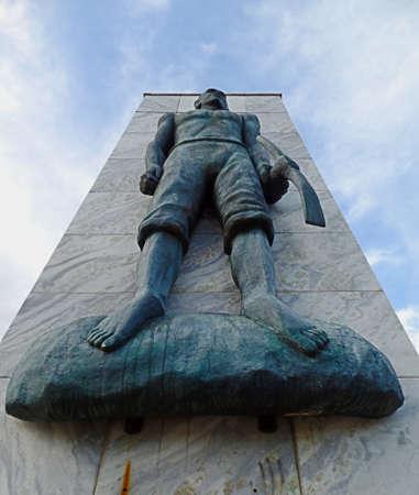 Quissamã, BRAZIL - OCTOBER 15, 2016: Black Awareness Day's monument in Kissama, Rio de Janeiro.