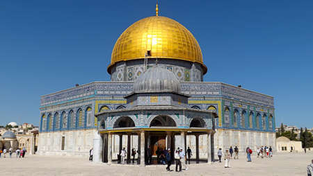 JERUSALEM, ISRAEL - MAY 21, 2013: The Dome of the Rock in Jerusalem facade. Éditoriale
