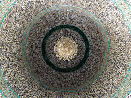 JERUSALEM, ISRAEL - MAY 21, 2013: Ceiling of the Dome of the Chain seen from inside.