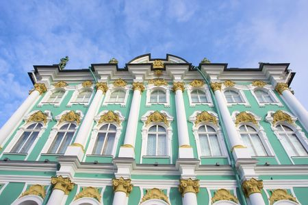 The Hermitage in St. Petersburg, Russia in winter Stock Photo