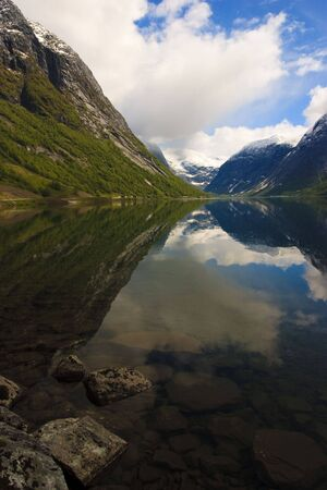 Fjords of Norway with snowy peaks Stock Photo - 5918768