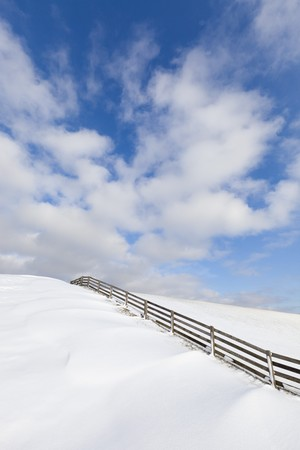Fresh snow on a dyke in winter Stock Photo - 7421668