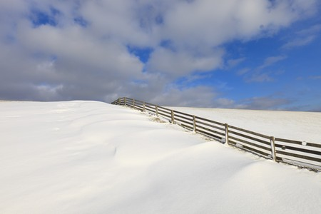Fresh snow on a dyke in winter Stock Photo - 7421669
