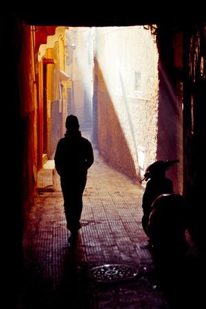 Straßen von Marrakesch in Marokko