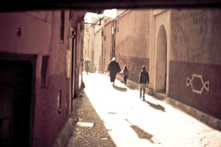 Straßen von Marrakesch in Marokko Standard-Bild - 9762759