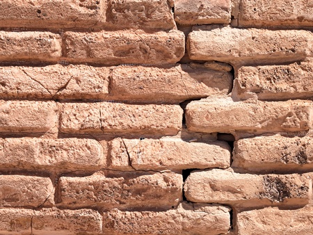 Old castle bricked wall background photo