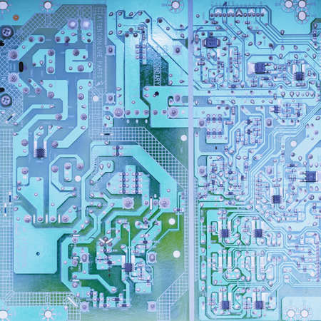 electronic scheme: Electronic circuit board scheme background close up