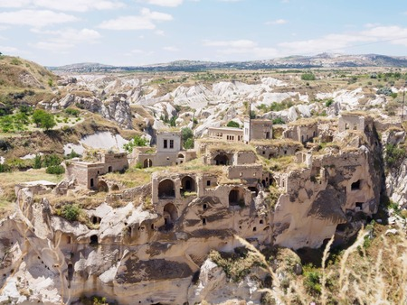 Goreme national park. Landscape at Cappadocia, Turkey ancient