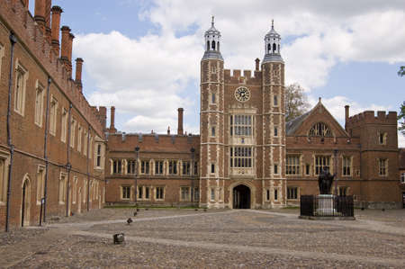 tudor: The imposing quadrangle at the historic Eton College, Windsor, Berkshire   Lupton s Tower in the centre dates from Tudor times  Editorial