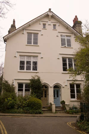 The renowned Indian poet Rabindranath Tagore  1861 - 1941  lived in this Victoricn Villa on the edge of Hampstead Heath  Tagore won the Nobel Prize for Literature in 1913  Stock Photo - 14242347