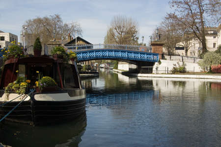 viaducts: One of the road viaducts over the canals at Little Venice in Paddington, West London   The picturesque area is where the Regent s and Grand Union Canals meet