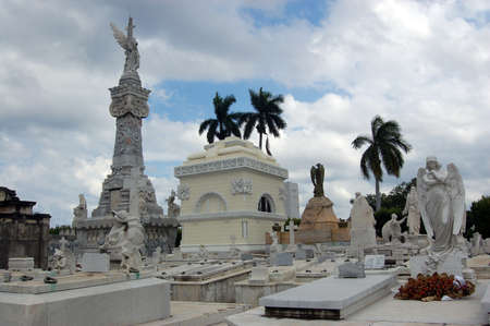 View of the Necropolis of Christobal Colon, Havana, Cuba   The City s main cemetery