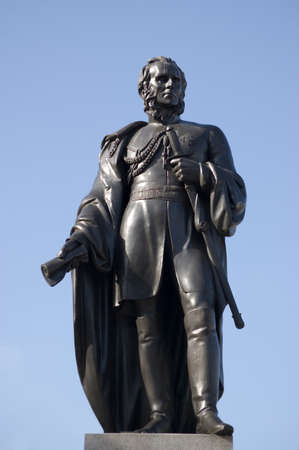 credited: Statue in Trafalgar Square, London, of General Charles Napier  1782-1853   Former commander of the British army in India, he is credited with capturing Sindh province in what is now Pakistan  Editorial