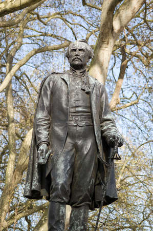 viceroy: Memorial statue of John, First Lord Lawrence  1811 - 1879 , Viceroy of India and ruler of the Punjab during the Sepoy Mutiny   Westminster, London