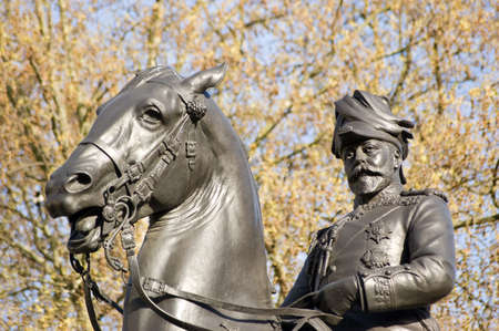 king edward: Equine statue of King Edward VII  1841 - 1910  in Westminster, London