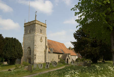 Parish Church of St Mary the Virgin in Bucklebury, Royal Berkshire  Stock Photo