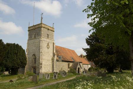 Parish Church of St Mary the Virgin in Bucklebury, Royal Berkshire  Stock Photo