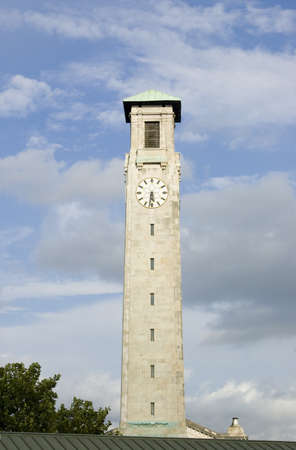 civic: The tall clock tower of Southampton s Civic Centre which dominates the skyline of the Hampshire city  Stock Photo