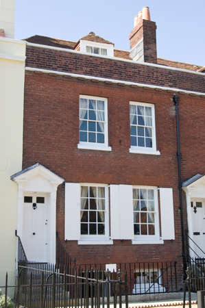 The novelist, journalist and social commentator Charles Dickens  1812 - 1870  was born in this Regency house in Portsmouth, Hampshire   The building is preserved as a museum Stock Photo - 15927660