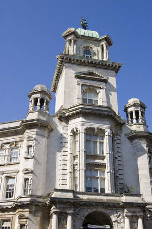 Facade of the Park Building in central Portsmouth, Hampshire   Now part of the city s University, it was built in 1908 by G E Smith out of Portland stone  Historic building viewed from pavement  Stock Photo - 15927663