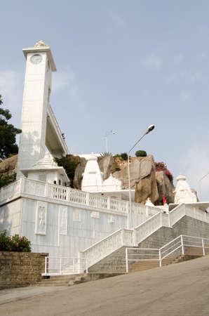 andhra: The landmark Hindu temple of Birla Mandir overlooking the city of Hyderabad, Andhra Pradesh