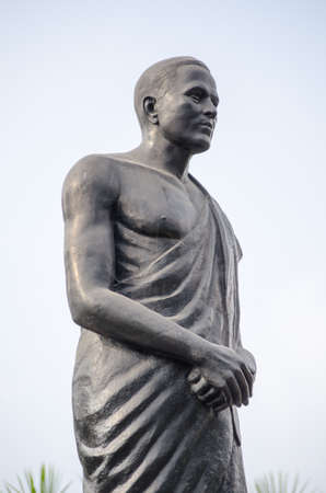 andhra: Monument to the freedom fighter Amarajeevi Potti Sreeramulu  1901 - 1952   An Indian revolutionary, he died following a hunger strike   Public monument in the centre of Hyderabad, Andhra Pradesh