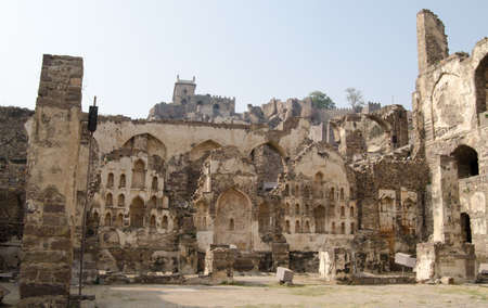 Ruins of the Medieval fortress at Golkonda, Hyderabad, India