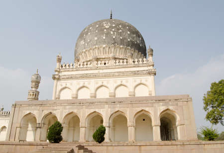 View of the historic tomb of Hayat Bakshi Begum   One of the Qutb Shahi Tombs, built in the 17th and 18th centuries in Golcanda, Hyderabad, India