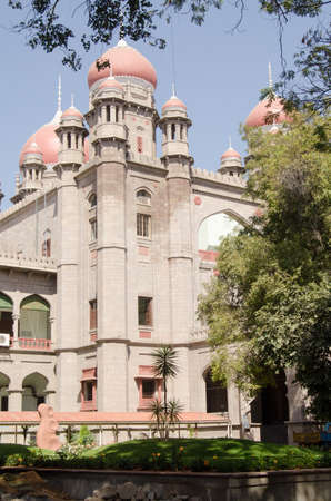 andhra: View of the Victorian era High Court in Hyderabad, Andhra Pradesh