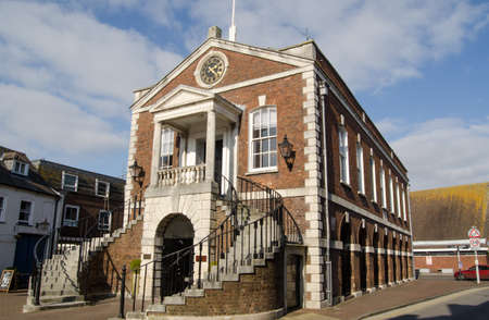 guildhall: The historic Guildhall in Poole, Dorset   Now used as the local authority s Register Office    Editorial