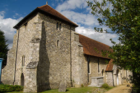 archaeologists: View of the historic church of Saint Bartholomew in Winchester   The remains of King Alfred were kept here are are being investigated by archaeologists