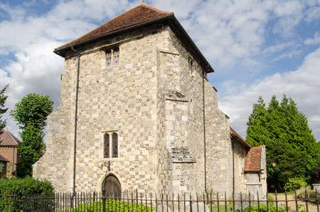 winchester: Chiesa di San Bartolomeo s, Winchester Ritenuto l'ultima dimora delle spoglie del re Alfred medievale Archivio Fotografico