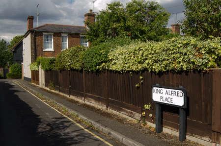 rey medieval: Una de las calles con nombres de rey Alfredo el Grande en Winchester residencial, Hampshire restos del Rey Medieval s est�n siendo investigados en la ciudad