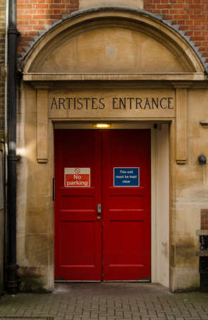 Performers  entrance at the rear of the Wigmore Hall concert venue   This historic building is home to many classical recitals  View of historic building from public pavement