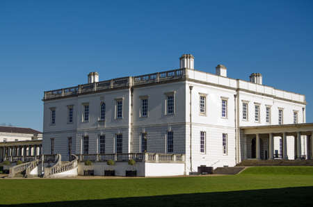 king james: Historic house originally designed by Inigo Jones for the wife of King James I and completed in 1635  Now a  museum and art gallery at the Royal Naval College, Greenwich, London