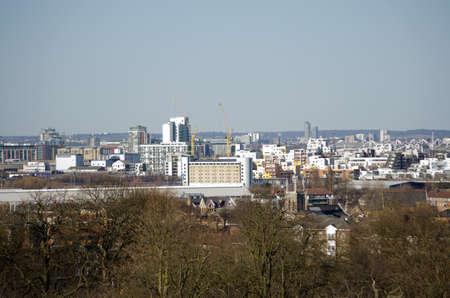 Blick von Greenwich Blick über East London Richtung Ilford mit Beckton, West Ham und in Stratford zwischen Standard-Bild - 23009833
