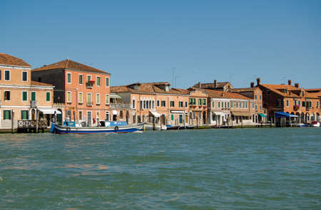 View of the island of Murano from the Venice lagoon, Italy
