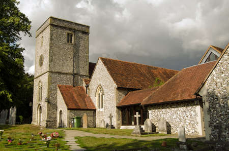 worthy: The historic church of St Mary in the village of King s Worthy, near Winchester, Hampshire