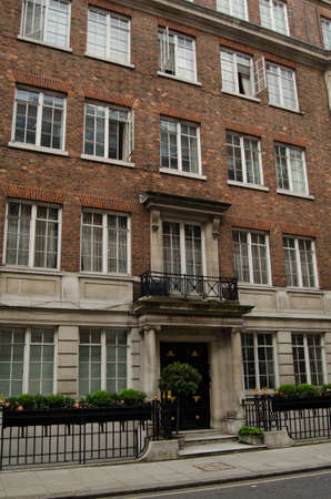 r image: LONDON, UK - MAY 15, 2014   The American journalist Edward R Murrow lived in flat 5 of this block during World War II and broadcast dispatches from BBC Broadcasting House just down the road  Editorial