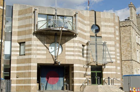 barracks: Post modern architecture at the historic Finsbury Barracks in Islington, London.  Home to the Honourable Artillery Company, part of the British Army Reserve. Editorial