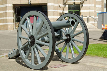 captured: A Turkish gun captured by British Forces during the First World War, now preserved at Finsbury Barracks in Islington, home to the Honourable Artillery Company.