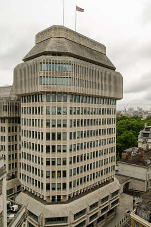 Headquarters of the Ministry of Justice for the UK Government in Westminster, London.  The Ministry is responsible for the Courts and Prisons of England and Wales.  Elevated view on a cloudy Summer day.