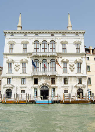 The magnificent Palazzo Balbi overlooking the Grand Canal in Venice. Stock Photo
