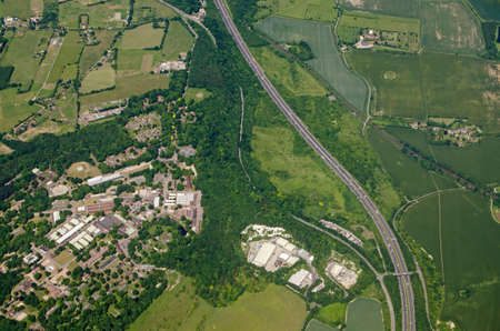 Aerial view of Fort Halstead, home to the Defence Science and Technology Laboroatory run by Qinetiq for the Ministry of Defence.