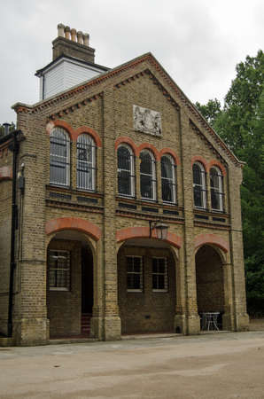 Exterior of the historic Prince Consort Library in Aldershot, Hampshire.  Founded by Prince Albert it holds many maps and books of military interest.