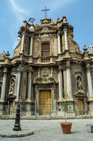Church of St Ann in the historic old town of Palermo, Sicily. Known in Italian as Chiesa Di SantAnna La Misericordia it was built in the seventeenth century.