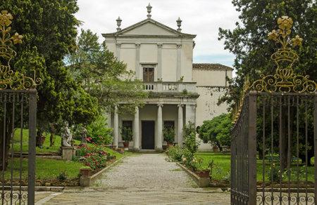 The Centre for the Study and Documentation of Armenian Culture in Venice, Italy.  Known locally as the Centro Studi e Documentazione della Cultura Armena.  Viewed from the Palazzo Zenobio on an overcast Spring day. Sajtókép