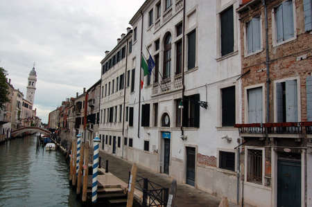 State Police headquarters, known as the Questura, on Fondamenta di san Lorenzo, Venice. The building is featured in Donna Leon's mystery book series staring Commissario Guido brunette.