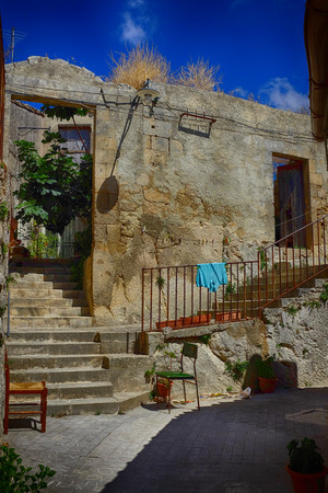 palazzolo: Old Town Palazzolo Acreide Sr Stock Photo